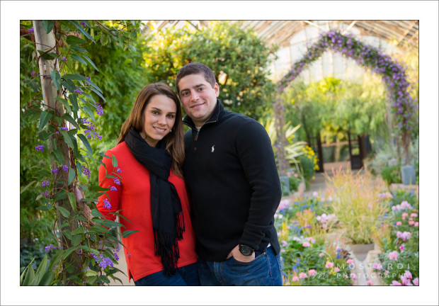 longwood gardens engagement photography session chester county