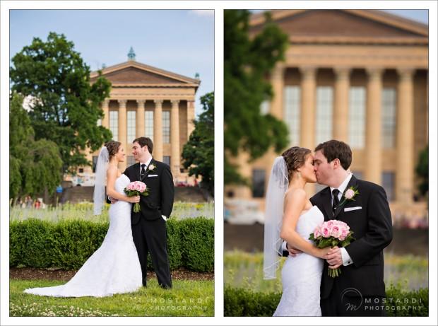 Wedding photography portraits at the Philadelphia Art Museum