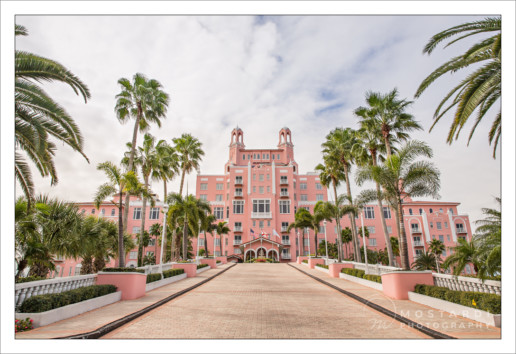Exterior view of the Don CeSar Hotel in St. Pete Beach, Florida