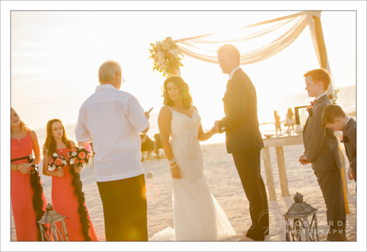Wedding on the beach in Pass-A-Grille, St. Pete Beach Florida.